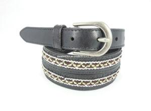 Fashion Women Leather Weaving Belt (EUBL0794-22)