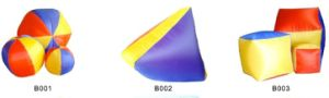 Nylon Round Ball, Inflatable Ball, Inflatable Rainbow Beach Ball (B001--B003)