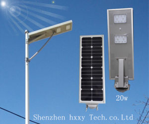 5 Years Warranty 20W High Lumen LED Garden Solar Street Light pictures & photos