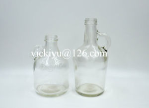 500ml Oil Glass Bottles with Handle, Round Glass Oil Bottles pictures & photos