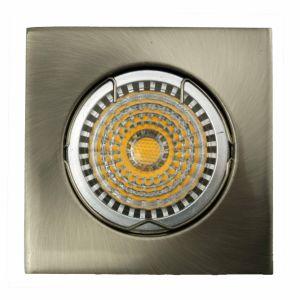 Die Cast Aluminum GU10 MR16 Square Fixed Recessed Satin Nickel LED Lamp (LT1001) pictures & photos