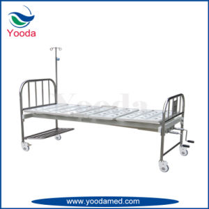 Stainless Steel Two Crank Hospital Bed pictures & photos