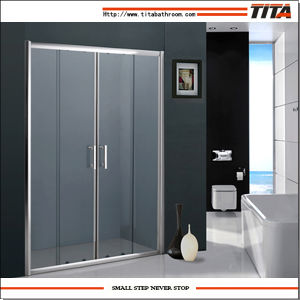 2014 Economical Design Folding Glass Shower Doors Ts9070 pictures & photos