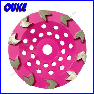 Cup Shaped Arrow Segmented Diamond Grinding Cup Wheel pictures & photos