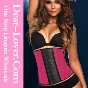 Women Latex Sexy Club Wear PVC Leather Waist Training Underbust Cincher Corset Lingerie pictures & photos