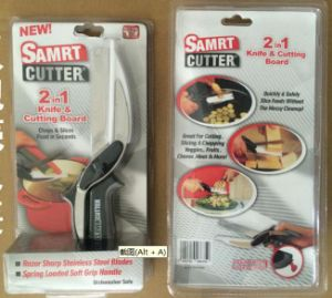 Stainless Steel 2 in 1 Knife and Cutting Board, Clever Cutter, Vegetable Scissors pictures & photos