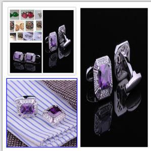 Rhodium Plated Men Shirt Sleeve Cufflink