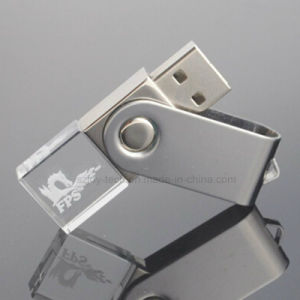 3D Logo Printing Crystal USB Flash Drives pictures & photos
