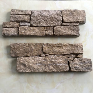 Natural Yellow Gneiss Stacked Stone Veneer (SMC-CC165) pictures & photos