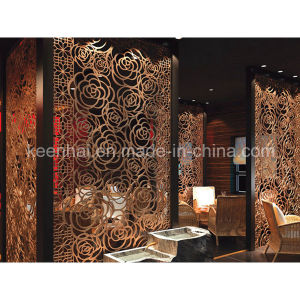 Hotel Restaurant Docorative Laser Cut Perforated Aluminum Wall Partition Panels pictures & photos