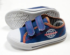 Kids Magic Tape Canvas Shoes 26-35# (coolclub-4) pictures & photos