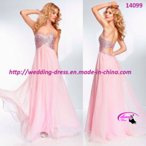 New Arrival Sexy Evening Dress Full Length Strapless with Beading pictures & photos