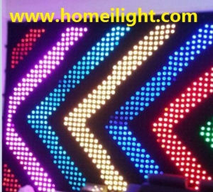 RGB Full Mix Colors 3 * 4 M Fireproof Velvet LED Video Curtain Light for DJ Stage Show Vision pictures & photos