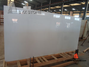 Pure White Nano Crystallized Glass Slab for Countertop and Tile pictures & photos