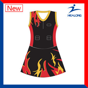 Custom Any Logo Sublimation Netball Dresses Bodysuit for Women pictures & photos