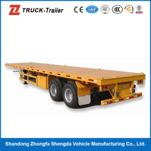 12.5m High Quality Steel Flatbed Container Semi Trailer Transportation Use