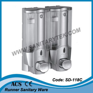 Double ABS Plastic Wall Mounted Liquid Soap Dispenser (SD-118C) pictures & photos