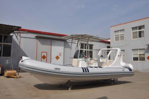 Liya 20ft Hypalon Inflatable Fishing Boat for Sale Rigid Hull Boat pictures & photos