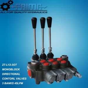 45lpm Hydraulic Monoblock Directional Control Valves with 3 Bankers