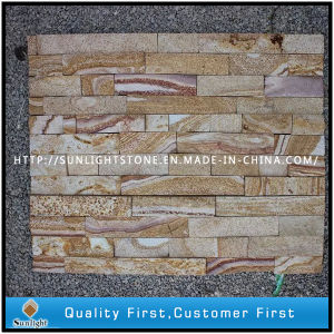 Yellow/Rusty Quartz Culture Stone for Wall Cladding pictures & photos