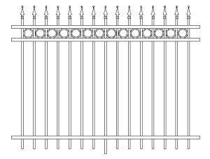 Decorative Ornamental Iron Swimming Pool Fences pictures & photos