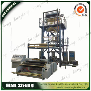 3 Layer Co-Extrusion Haul-off Rotary Film Blowing Machine Sjm 45-3-1600
