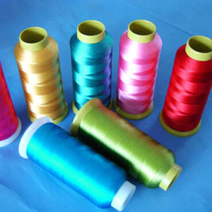 120d/2 100% Polyester Multifilament Embroidery Thread pictures & photos