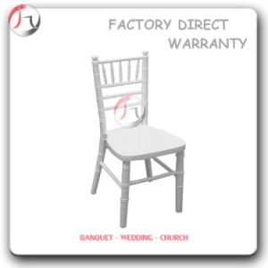 Ice Hiring Pure White Wooden Painting Chiavari Chair (AT-88) pictures & photos
