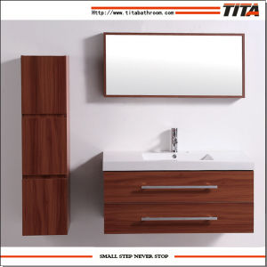 Fashional Plywood with Veneer Bathroom Cabinet Set (T0871) pictures & photos