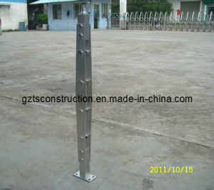 Indoor Satin Silver Stainless Steel Glass Column pictures & photos