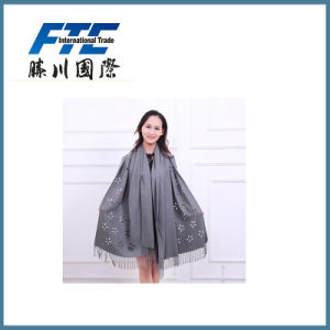 Lady Long Winter Cashmere Scarf with Tassel pictures & photos