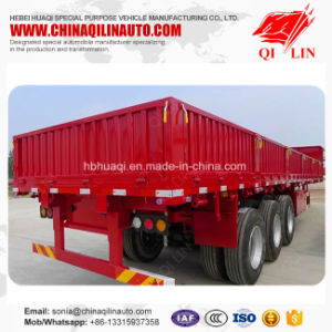 Hot Sale Heavy Duty 30t - 60t 40FT Side Wall Drop Semi Trailer pictures & photos