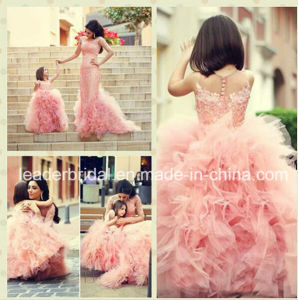 Hot Pink Wedding Flower Girl Dress Girl′s Pageant Formal Gown S2015 pictures & photos