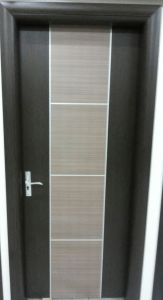 Double Color and Decorated Strip MDF Door for Interior Room