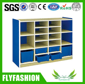 Kindergarten Furniture Wood Child Storage Cabinet Tray Cubbies (SF-119C) pictures & photos