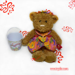 Plush Teddy Bear with Cotton Dressed pictures & photos