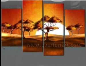 Canvas Art Sunrise Landscape Oil Painting for Home Decor (LA4-050) pictures & photos