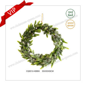 22′′ Decorative Plastic Christmas Wreath Christmas Decoration Glass Craft pictures & photos