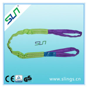 2t*10m Double Eye Polyester Round Sling Safety Factor 6: 1 pictures & photos