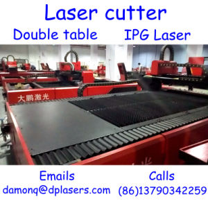 1000W CNC Fiber Laser Cutter with Double Table Built in Precise Stable Ipg Laser pictures & photos