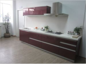 Guanjia Kitchen MDF Lacquring Kitchen Designs Kcl001 pictures & photos
