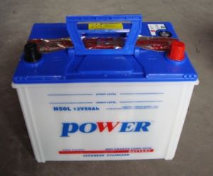 N50 12V50ah Dry Charged Lead Acid Storage Car Battery pictures & photos