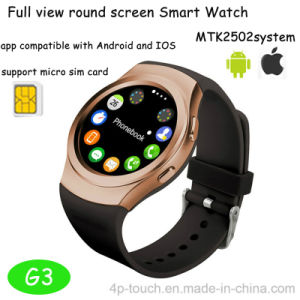 2017 Hot Sell Smart Watch with Heart Rate Monitor for ISO and Android (G3) pictures & photos