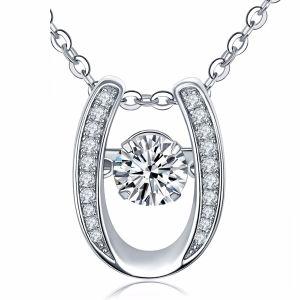 U Pendants Necklace 925 Silver Jewelry Dancing Diamond pictures & photos