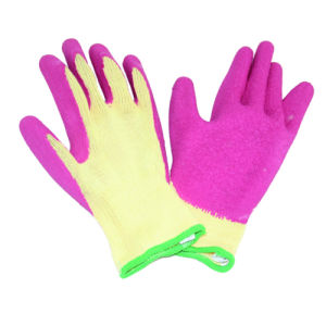 10g Seamless Knitted Liner Glove with Latex Coated, Wrinkle Finished