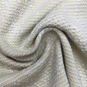 Jacquard P/R/Sp 70/25/5, 280GSM, Knitting Fabric with Lurex for Lady′s Garment pictures & photos