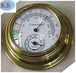 Dial Thermo-Hygrometer Brass Case Dial 95mm pictures & photos