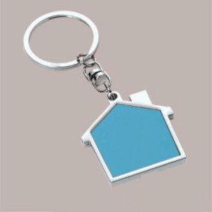 Promotion Gift Laser Logo House Shape Metal Keyring (F1098C) pictures & photos