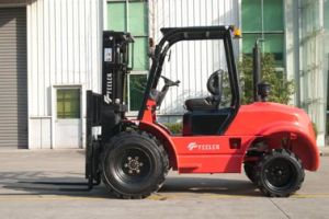 Feeler 2.5ton SUV 4*2 Rough Terrain Forklift with High Quality pictures & photos
