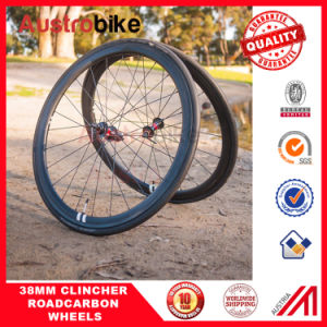 Clincher Carbon Wheelset Road Bike Wheelset 3k 12k Ud Weave pictures & photos